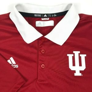 Adidas Climalite Indiana IU Hoosier Golf Polo XL
